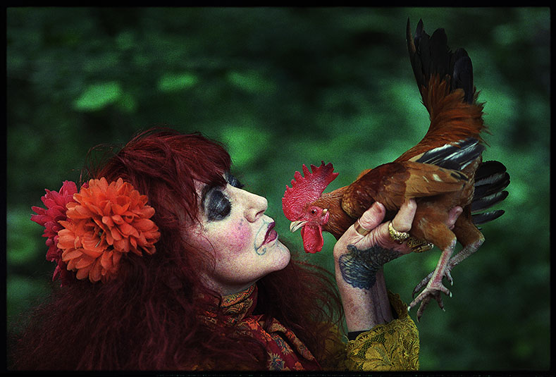 Vali Myers with Rooster